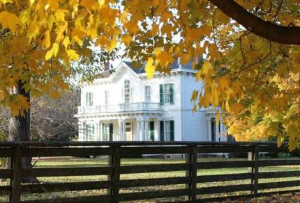 Hunter-Dawson Home State Historic Site in the Fall